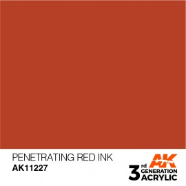 Acrylics 3rd generation Penetrating Red INK 17ml