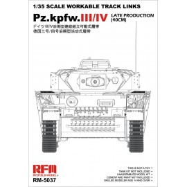 Ryefield model 1:35 Pz.Kpfw.III/IV Late Production (40cm) Tracks