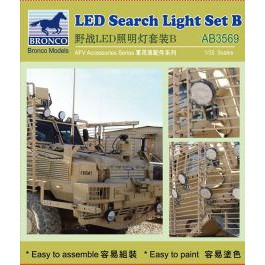 Bronco 1:35 LED Search Light Set B