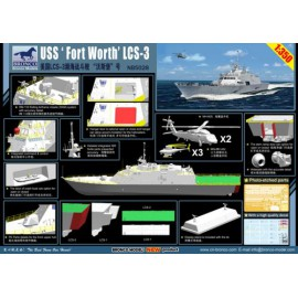 Bronco 1:350 USS 'Fort Worth' (LCS-3)