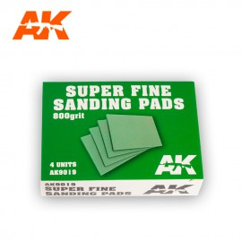 AK Interactive Superfine sanding pads 800 Grit. 4 units
