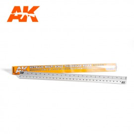 AK Interactive Metallic Multi Scale Triangular Ruler