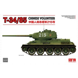 Ryefield model 1:35 T-34/85 No.183 Factory Chinese Volunteer