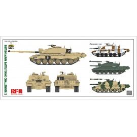 Ryefield model 1:35 British main battle tank Challenger 2 w/workable track