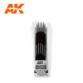 AK Interactive Silicone brushes medium hard tip medium