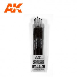 AK Interactive Silicone brushes hard tip medium