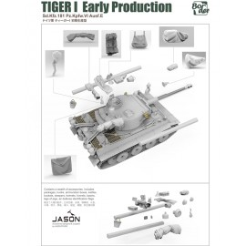 Border Model 1:35 Tiger I Early Production Sd.Kfz.181 Pz.Kpfw.VI Ausf.E
