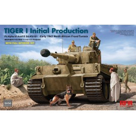 Ryefield model 1:35 Tiger I initial production early 1943 w/full interior