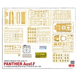 Ryefield model 1:35 Panther Ausf.F w/workable track links