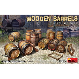 Miniart 1:35 Wooden Barrels. Medium Size