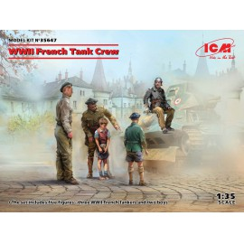 ICM 1:35 WWII French Tank Crew (4 figures)