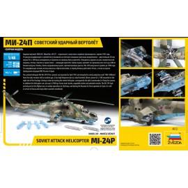 Zvezda 1:48 MI-24P Russian Attack Helicopter